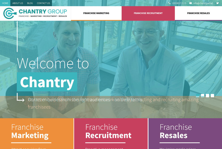 The Chantry website created by it'seeze Bristol