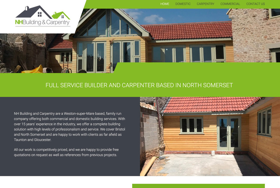 The NH Building & Carpentry website created by it'seeze Bristol