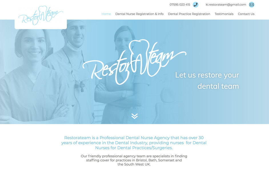 The Restorateam website created by it'seeze Bristol