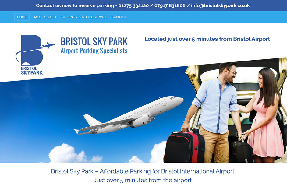 The Bristol Sky Park website created by it'seeze Bristol